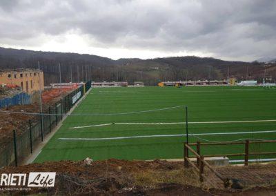 Amatrice, ecco il nuovo campo da calcio in sintetico finanziato con le multe della Serie A 5