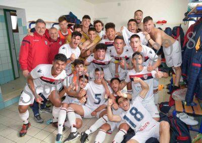 Cagliari esulta dopo vittoria Semifinale Roma