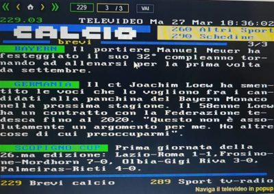 Televideo Rai Scopigno Cup 2