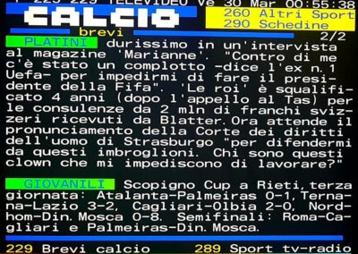 Televideo Rai Scopigno Cup 3