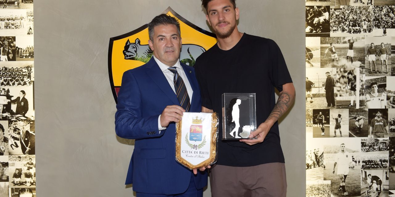 Awarded the Manlio Scopigno Platinum Boy Prize to Lorenzo Pellegrini