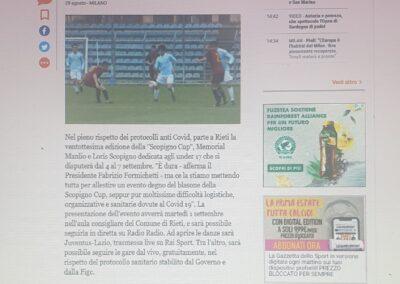 Gazzetta dello Sport Scopigno Cup 2020